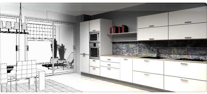 Estilo acqua ba os y cocinas for Disenar cocina 3d online